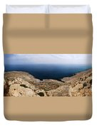 Beautiful View On Mediterranean Sea From Cape Gkreko In Cyprus Duvet Cover