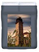 Beavertail Lighthouse Duvet Cover