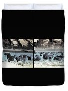 Before And After Hurricane Eloise 1975 Duvet Cover by Science Source