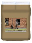 Belgian Soldiers On Patrol Duvet Cover by Luc De Jaeger