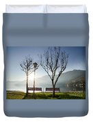 Bench And Trees Duvet Cover