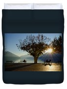 Benches And Trees Duvet Cover