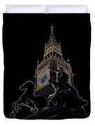 Big Ben And Boudica Statue Duvet Cover