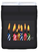 Birthday Candles Duvet Cover
