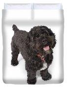 Black Bichon-cocker Spaniel Dog Duvet Cover