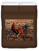 Black Breasted Red Phoenix Rooster Duvet Cover