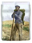 Black Civil War Soldier Duvet Cover