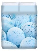 Blue Easter Eggs Duvet Cover by Elena Elisseeva