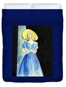 Blue Gown Duvet Cover