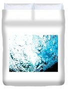 Blue White Water Bubbles In A Pool  Duvet Cover