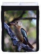 Blue-winged Kookaburra Duvet Cover