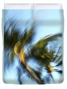 Blurred Palm Trees Duvet Cover