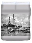 Boats On The Hard Pin Mill Duvet Cover
