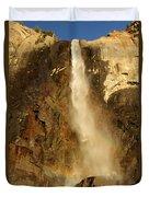 Bridal Veil Falls At Yosemite Duvet Cover