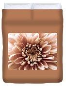 Brown Flower Duvet Cover