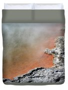 Bubbles Rising In Champagne Pool Hot Duvet Cover