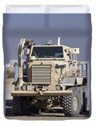 Buffalo Mine Protected Vehicle Duvet Cover