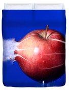Bullet Hitting An Apple Duvet Cover