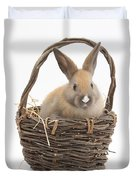 Bunny In A Basket Duvet Cover