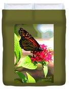 Butterfly Flowers Duvet Cover