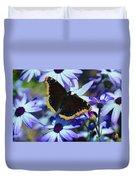Butterfly In Blue Duvet Cover