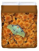 Butterfly On Flowers Duvet Cover