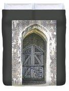 Caerphilly Castle Gate Duvet Cover