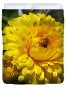 Calendula Named Bon-bon Yellow Duvet Cover