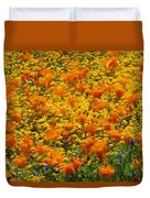 California Poppies And Goldfields Dance Duvet Cover