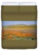 California Poppies Fill A Landscape Duvet Cover