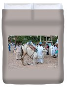 Camel Riders Duvet Cover