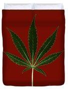 Cannabis Sativa, Marijuana Leaf Duvet Cover