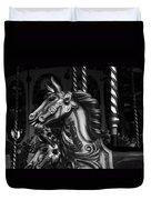 Carousel Horses Mono Duvet Cover
