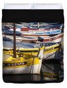 Cassis Boats Duvet Cover by Brian Jannsen