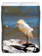 Cattle Egret In Breeding Plumage Duvet Cover