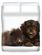 Cavapoo Pup And Shaggy Guinea Pig Duvet Cover