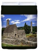 Chapel Of Saint Kevin At Glendalough Duvet Cover by The Irish Image Collection