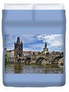 Charles Bridge - Prague Duvet Cover
