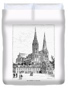 Chartres Cathedral Duvet Cover