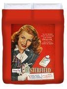 Chesterfield Cigarette Ad Duvet Cover