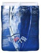 Chevrolet Corvette Hood Emblem Duvet Cover
