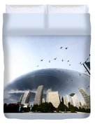 Chicago Cityscape The Bean Duvet Cover
