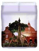 Christ Church In Melaka In Malaysia Duvet Cover
