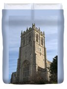 Christchurch Priory Bell Tower Duvet Cover
