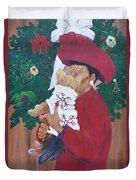 Christmas Lioness Duvet Cover