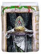 Christmas Pudding, 1882 Duvet Cover