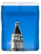 Clarksville Historic Courthouse Tower Duvet Cover