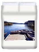 Clear Lake At Mckenzie Pass Duvet Cover