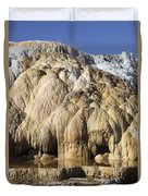 Cleopatra Terrace, Mammoth Hot Springs Duvet Cover