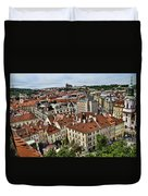 Clock Tower View - Prague Duvet Cover